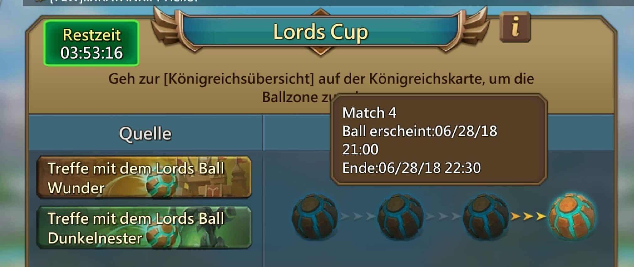 Juni Update: Lords Cup und neue Rüstung