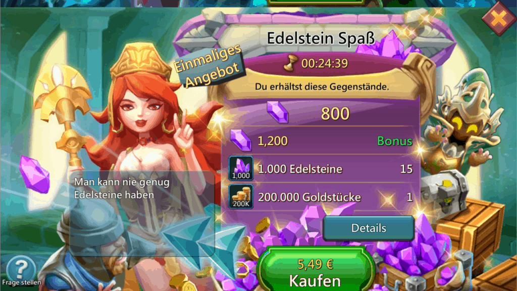 Lords Mobile Edelsteinpaket