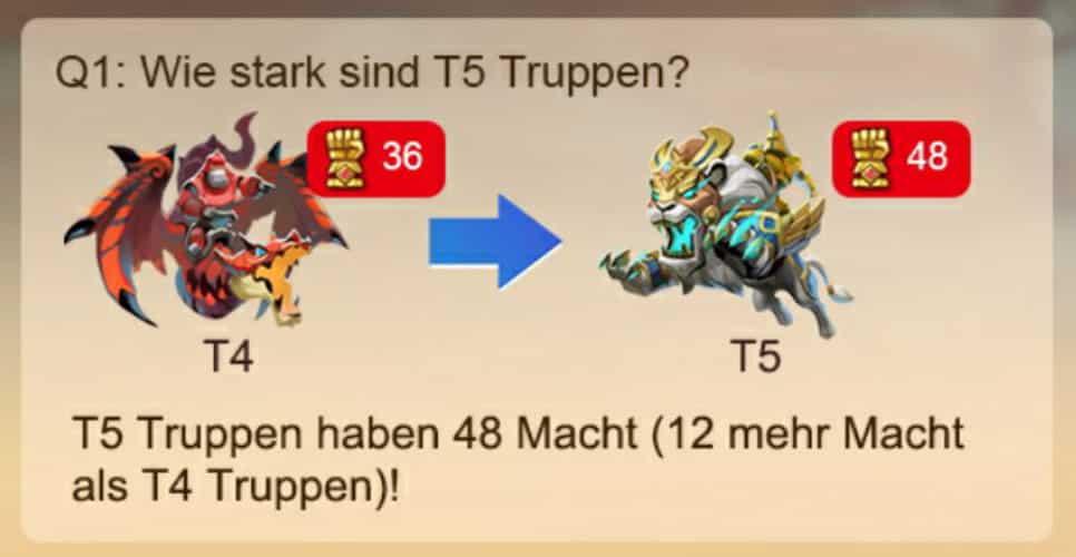 Wie stark sind T5 Einheiten?
